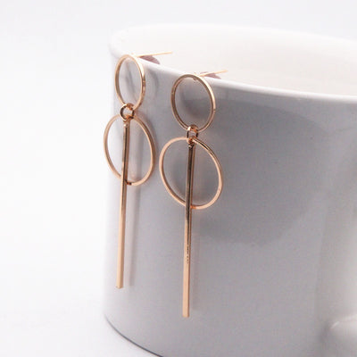 Double Circle Earrings - Bean Concept - Etsy