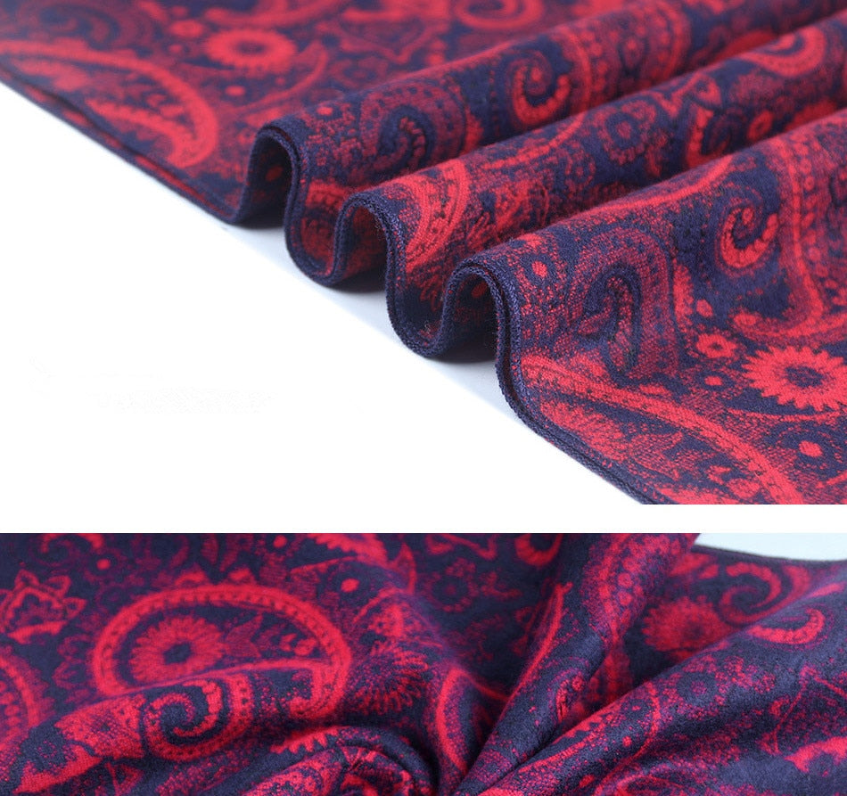 Black Classic Paisley Scarf - Bean Concept - Etsy