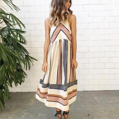 Retro Sleeveless Summer Dress