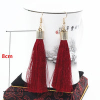 Bohemian Tassel Drop Earrings - Bean Concept - Etsy