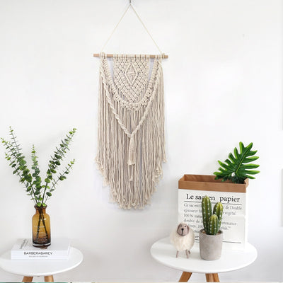 Hand Knotted Macrame Wall Art - Bean Concept - Etsy