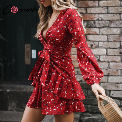 Ruffles Long Sleeve Dress