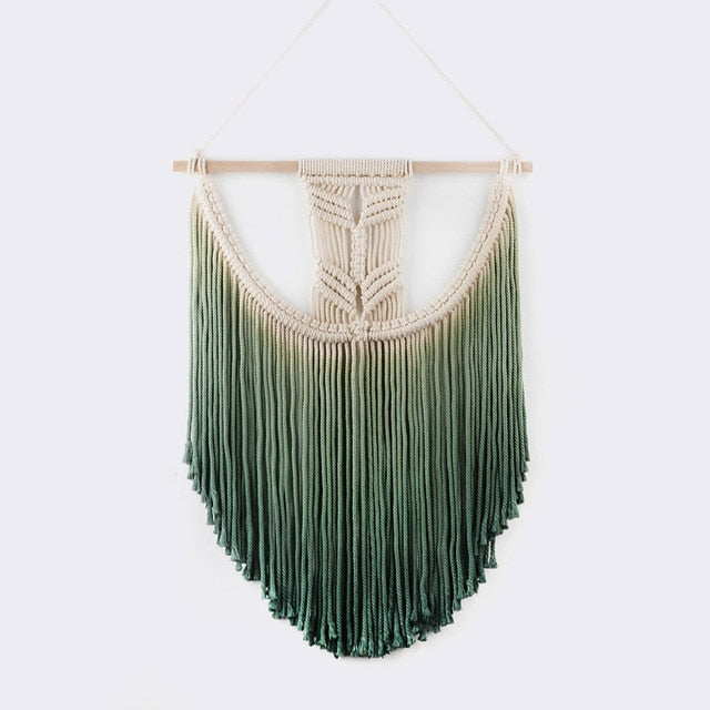 Green Ombre Macramé Wall Hanging Tapestry - Bean Concept - Etsy