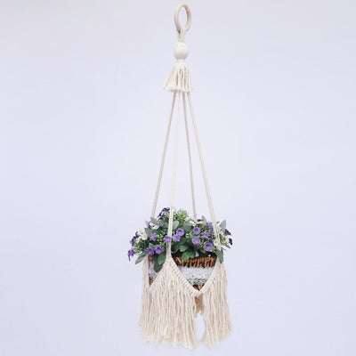 Handmade Macrame Plant Pot Holder - Bean Concept - Etsy