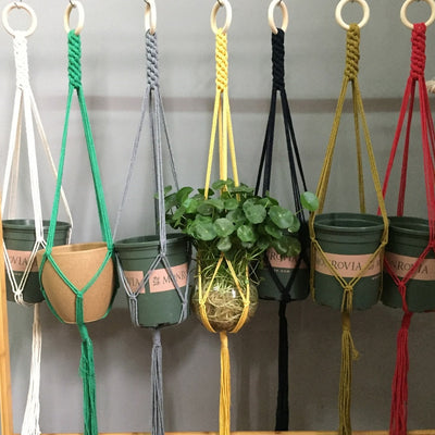 Macrame Hanging Pot Holder