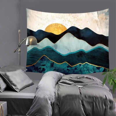 Abstract sunset Mountains Tapestry - Bean Concept - Etsy