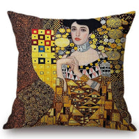 Gold Luxury Oil Painting Home Decorative Pillow Case - Bean Concept - Etsy