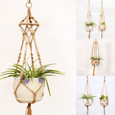 Handcrafted Braided Hanger Pot - Bean Concept - Etsy
