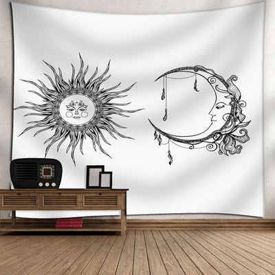 Moon and the Sun Tapestries Decor