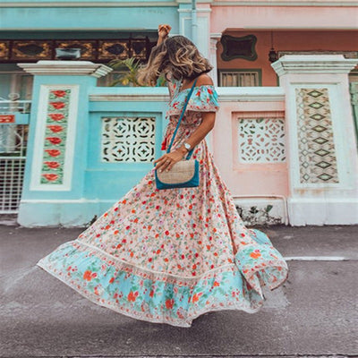 Off Shoulder Bohemian Dress