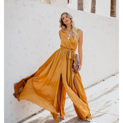 Yellow Boho Beach Dress