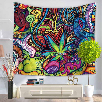 Bright Colorful Geometric Pattern Tapestry - Bean Concept - Etsy