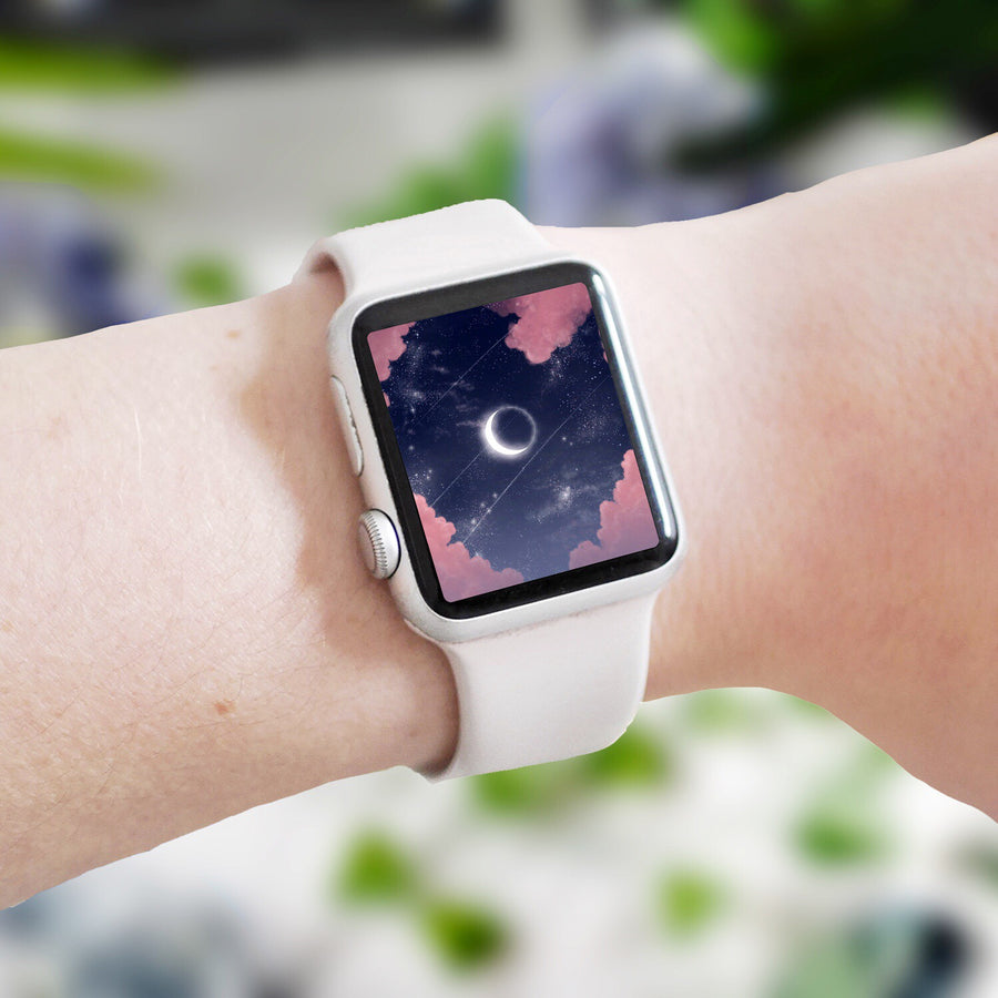 Eclipse Apple Watch Digital Wallpaper - The Quirky Cup Collective