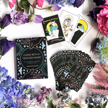Amenti Oracle Feather Heart Deck - The Quirky Cup Collective