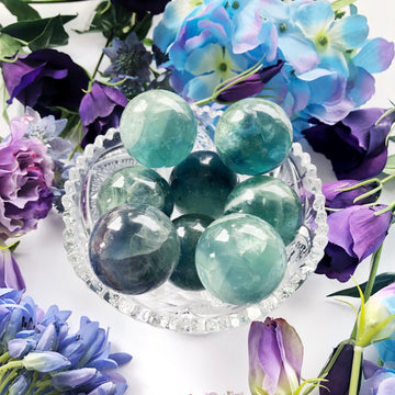 Blue Fluorite Sphere - The Quirky Cup Collective