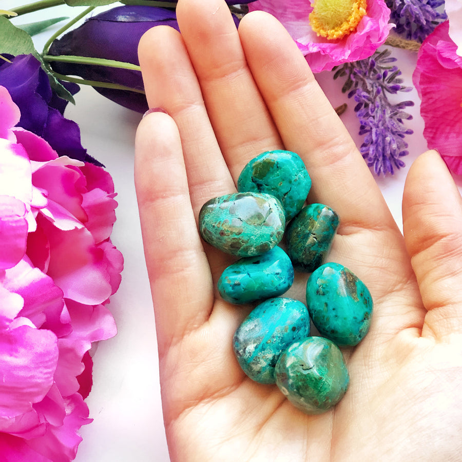 Chrysocolla Tumbled Stones - The Quirky Cup Collective