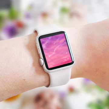 Cotton Candy Skies Apple Watch Digital Wallpaper - The Quirky Cup Collective