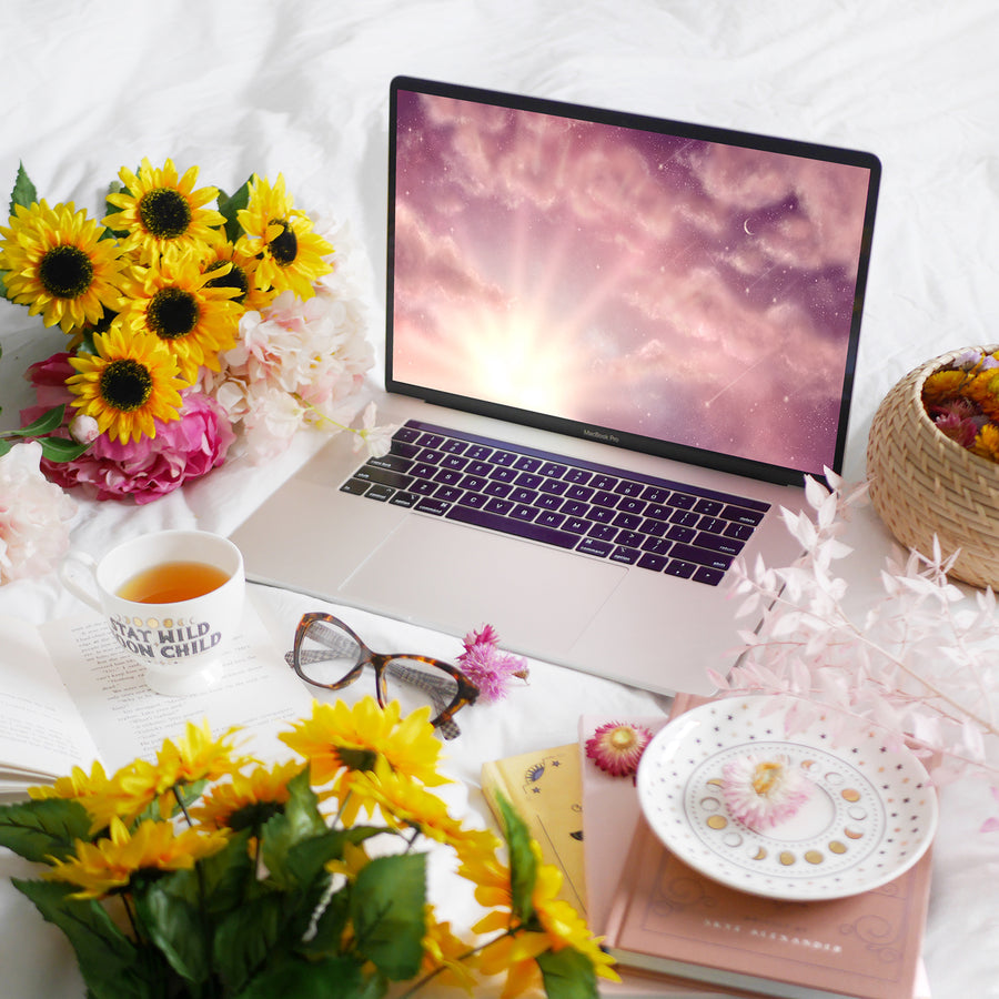 Daybreak Laptop & Desktop Digital Wallpaper - The Quirky Cup Collective