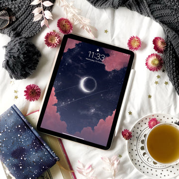 Eclipse iPad Digital Wallpaper - The Quirky Cup Collective