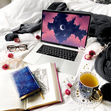 Eclipse Laptop & Desktop Digital Wallpaper - The Quirky Cup Collective
