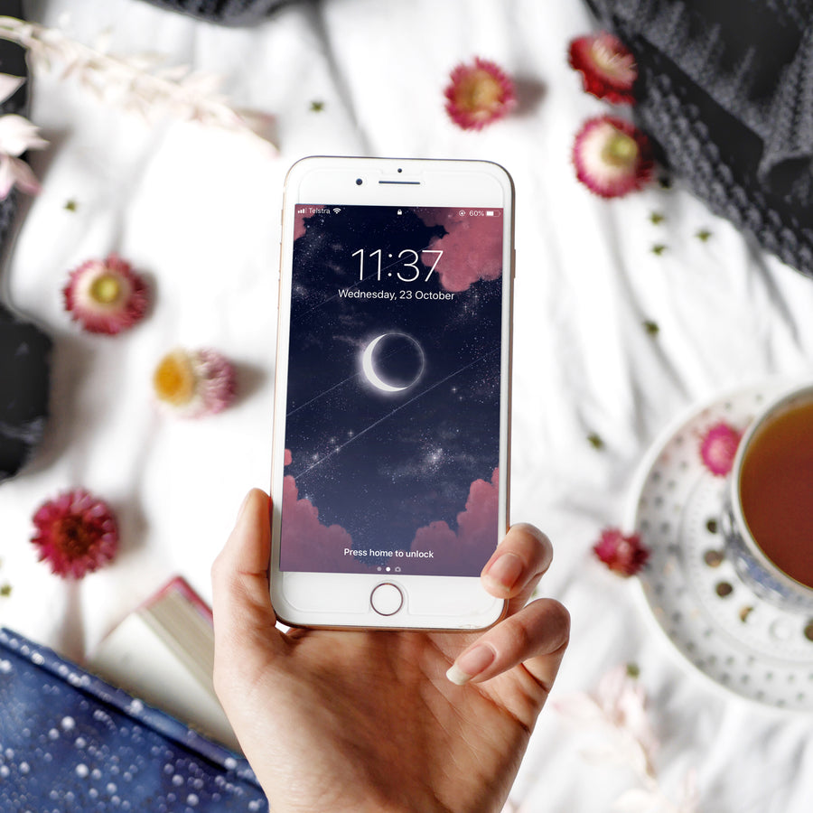 Eclipse Digital Phone Wallpaper - The Quirky Cup Collective