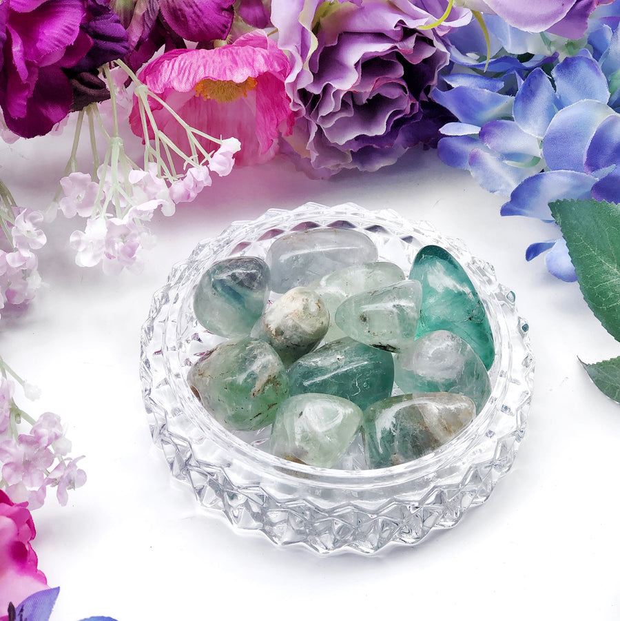 Green Fluorite Tumbled Stones - The Quirky Cup Collective