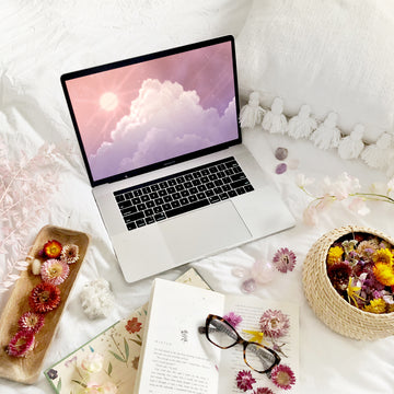 Solar Sunset Laptop & Desktop Digital Wallpaper - The Quirky Cup Collective