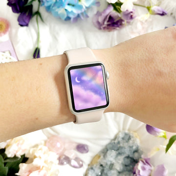 Rainbow Skies Apple Watch Digital Wallpaper - The Quirky Cup Collective