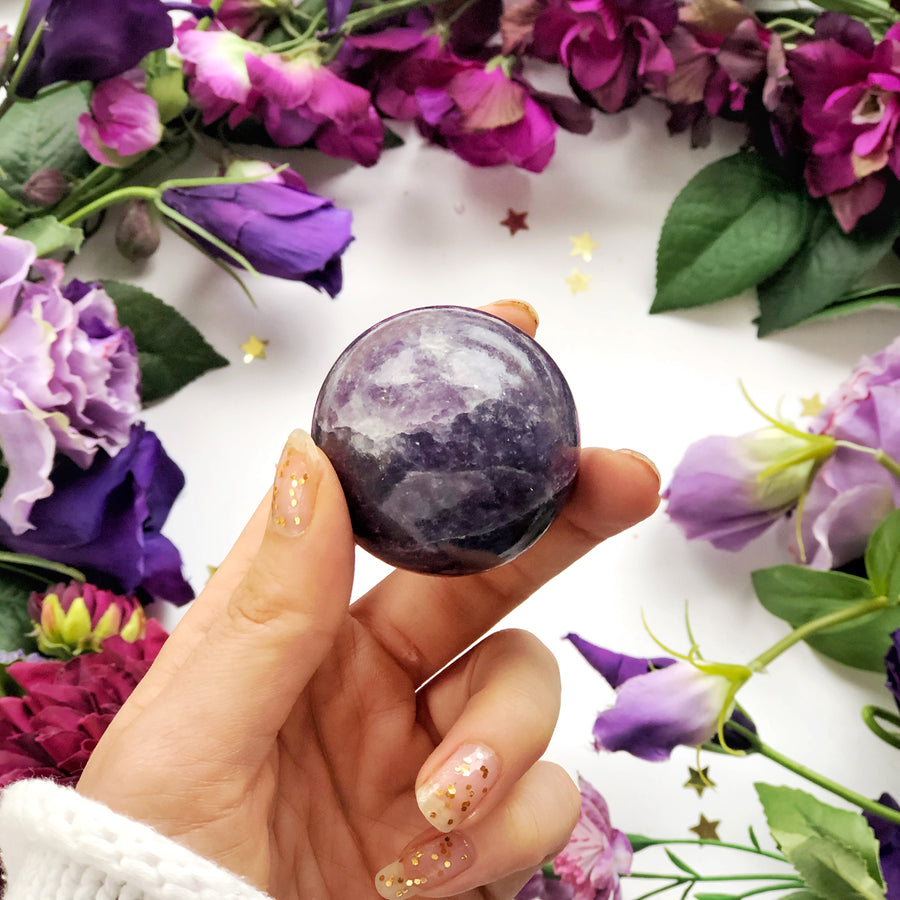 Lepidolite Sphere - The Quirky Cup Collective