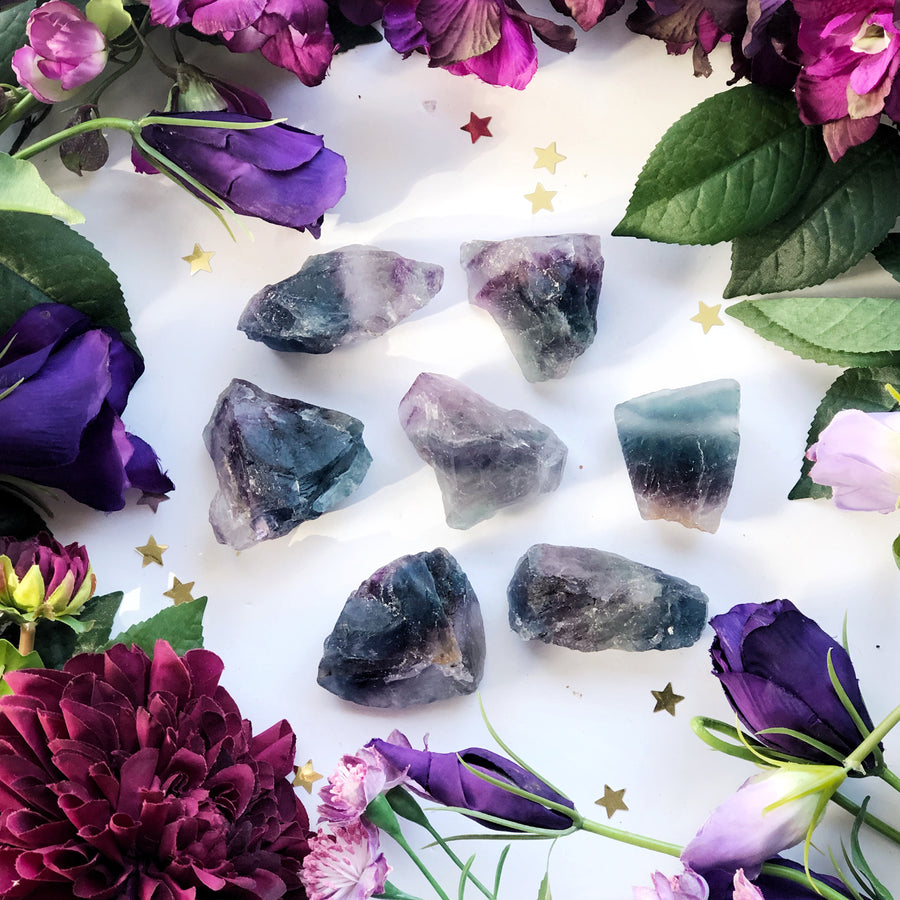 Raw Fluorite Pieces Medium - The Quirky Cup Collective