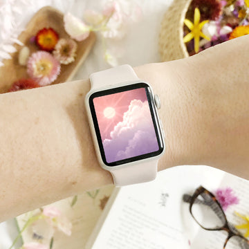 Solar Sunset Apple Watch Digital Wallpaper - The Quirky Cup Collective