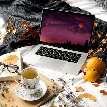 Spooky Season Laptop & Desktop Digital Wallpaper - The Quirky Cup Collective