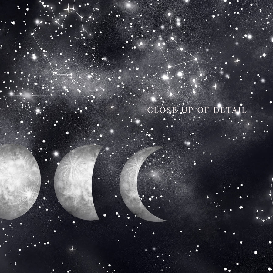 Moon Phases Phone Wallpaper - The Quirky Cup Collective