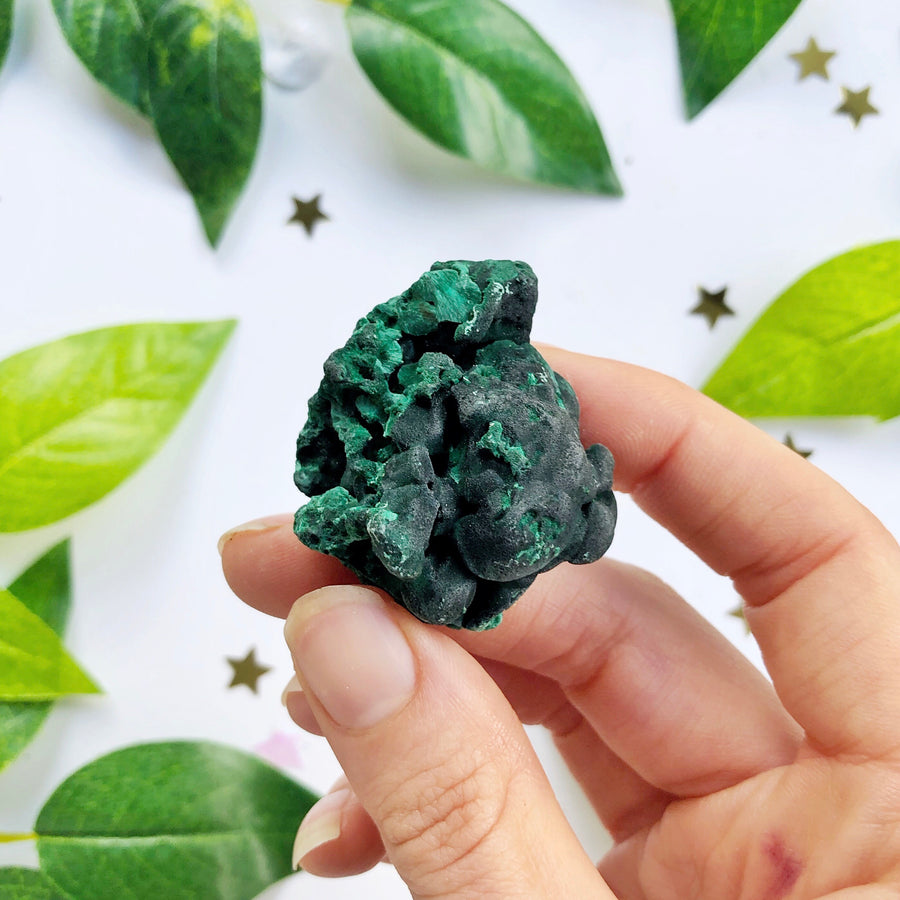 Malachite Cluster - The Quirky Cup Collective