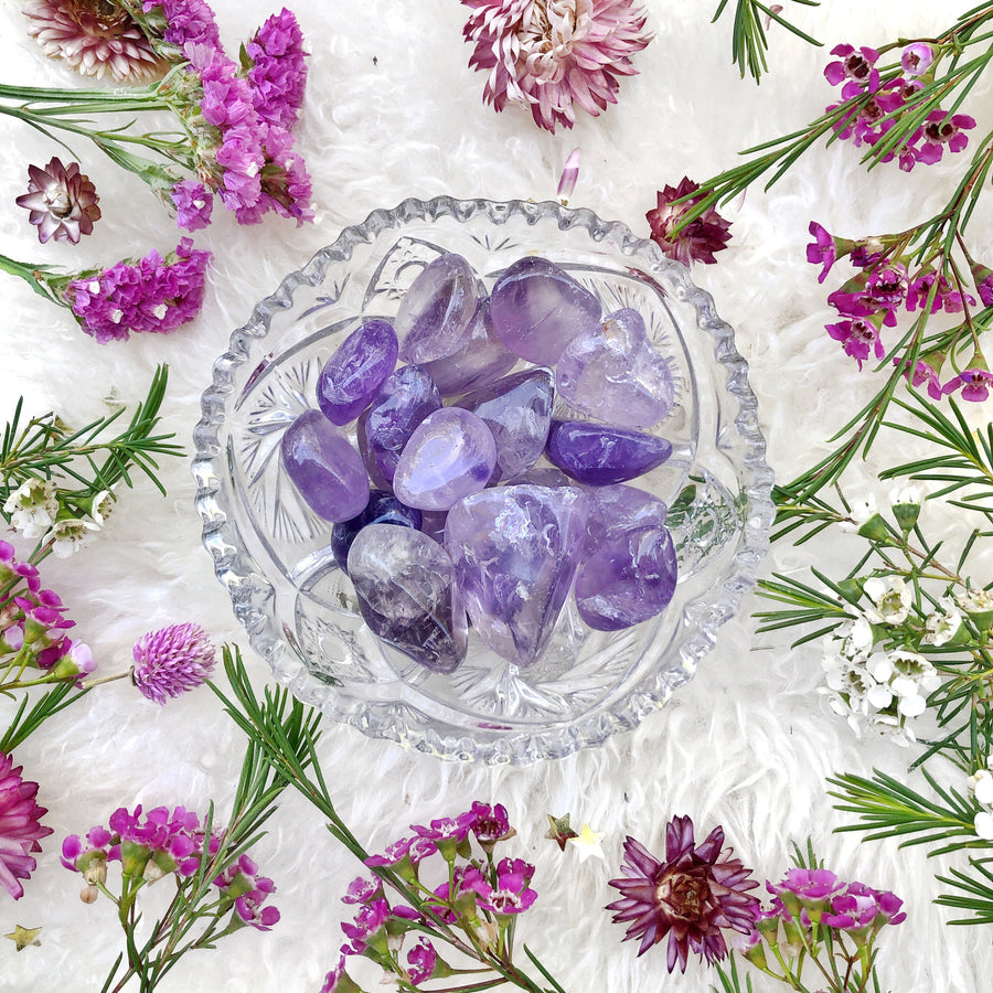Amethyst Tumbled Stones - The Quirky Cup Collective
