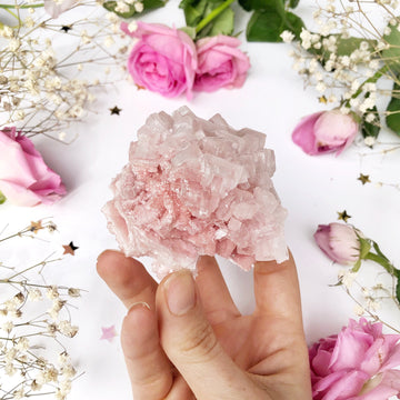 Pink Halite Cluster - The Quirky Cup Collective