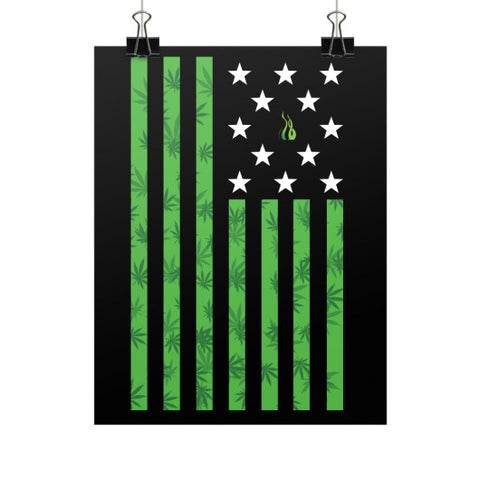 Cannabis Flag Vertical Fine Art Prints (Posters)  Kushvana