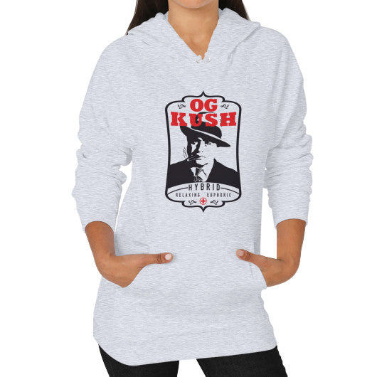 Hoodie (on woman) Heather grey Kushvana