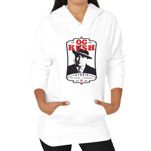 Hoodie (on woman) White Kushvana