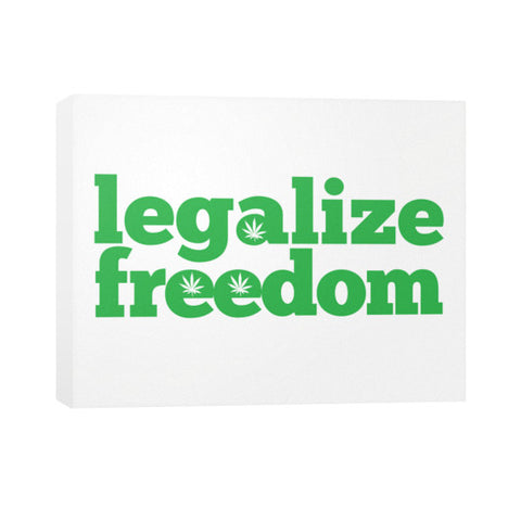 Cannabis Legalize Freedom Horizontal Canvas Wall Art by Kushvana