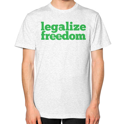 Legalize Freedom Cannabis T-Shirt Ash grey by Kushvana