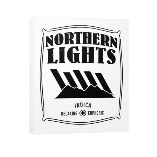 Northern Lights Cannabis Signature Series Vertical Canvas  Kushvana