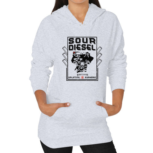 Sour Diesel Signature Series Hoodie (on woman) Heather grey Kushvana