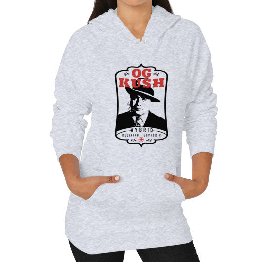 The Original OG Kush Signature Series Hoodie (on woman) Heather grey Kushvana
