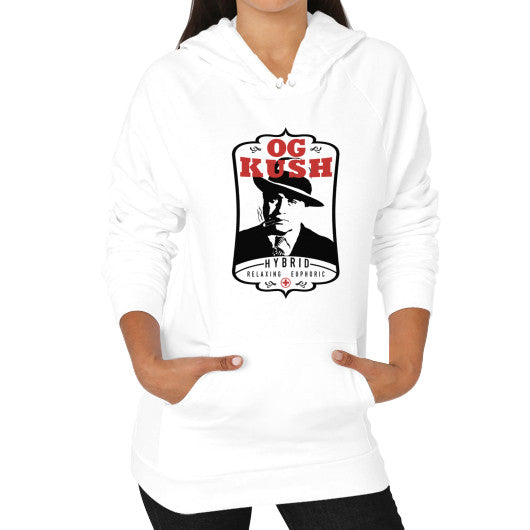 The Original OG Kush Signature Series Hoodie (on woman) White Kushvana