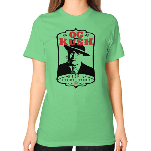 The Original OG Kush Signature Series Unisex T-Shirt (on woman) Grass Kushvana