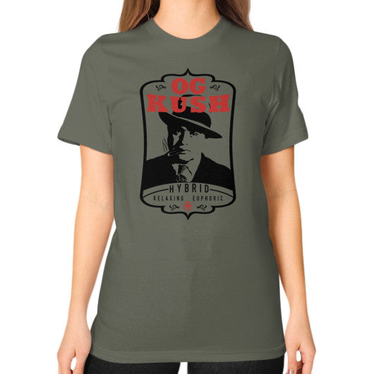 The Original OG Kush Signature Series Unisex T-Shirt (on woman) Lieutenant Kushvana