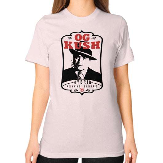 The Original OG Kush Signature Series Unisex T-Shirt (on woman) Light pink Kushvana