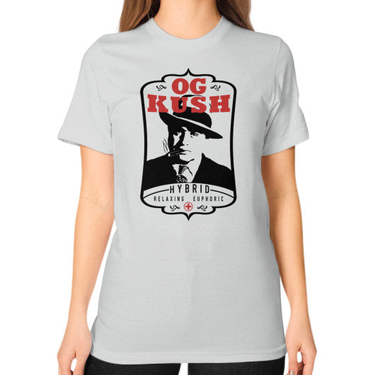 The Original OG Kush Signature Series Unisex T-Shirt (on woman) Silver Kushvana