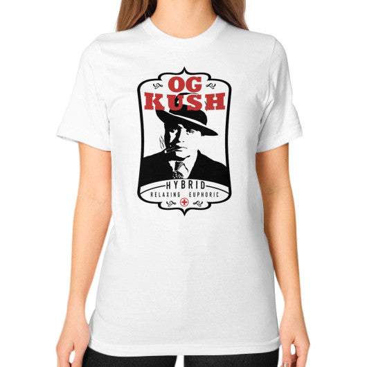 The Original OG Kush Signature Series Unisex T-Shirt (on woman) White Kushvana